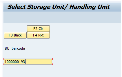 Receiving using RF device in SAP